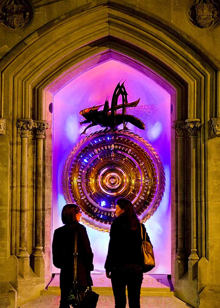 The Chronophage Clock at Corpus Christi College