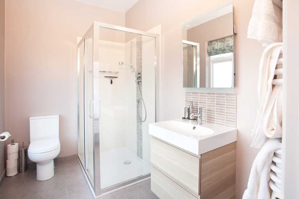 The Wisteria Room's en suite bathroom with shower